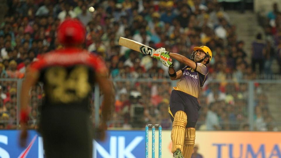 Gautam Gambhir  gave Narine good support and the pair put KKR on course for a big total. (BCCI)