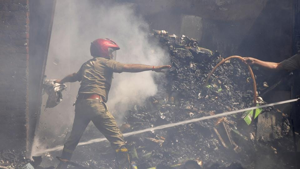 Six, including a director of the company, were killed in a fire in a Sector 11 factory.