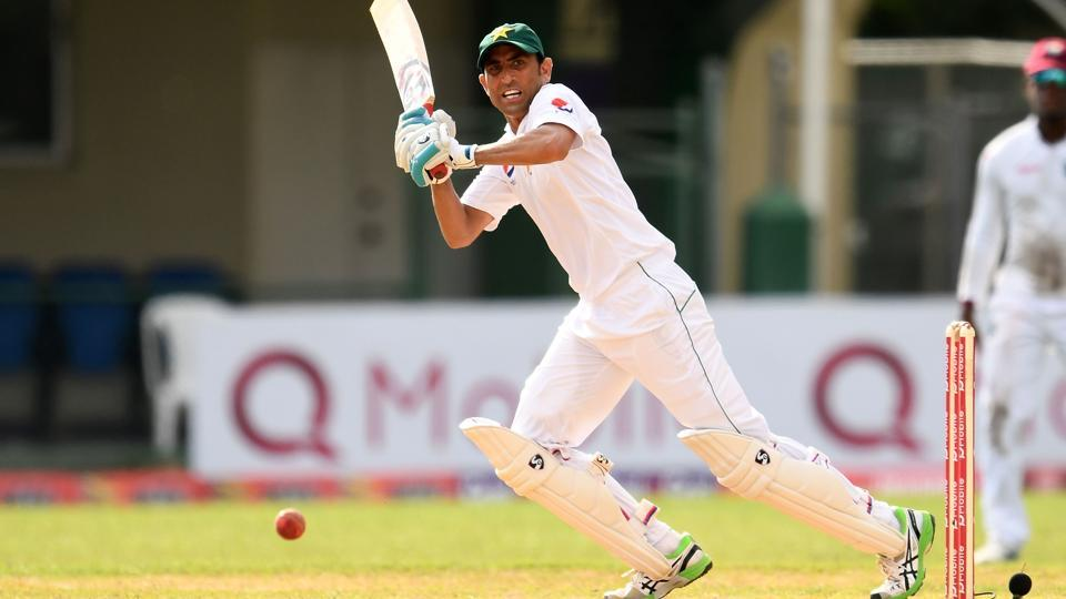 Younis Khan in action for West Indies against Pakistan at the Sabina Park in Kingston, Jamaica.