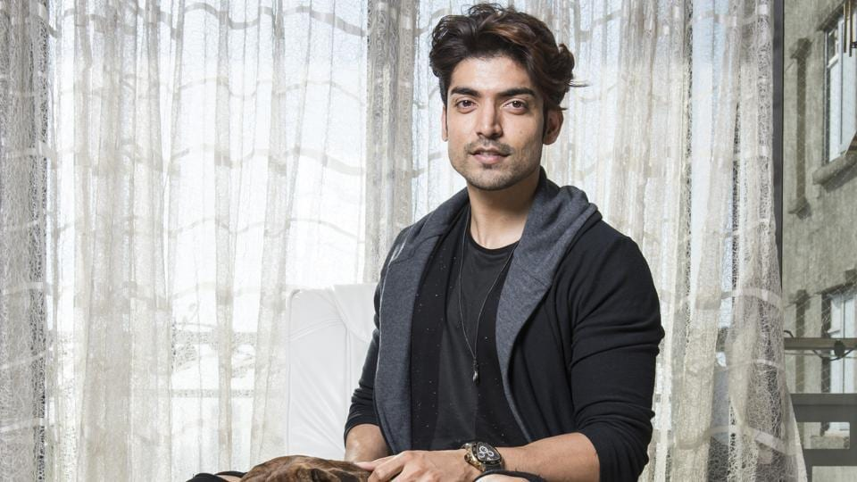 Actor Gurmeet Choudhary at his house in Goregaon.(Photo: Aalok Soni/ HT)