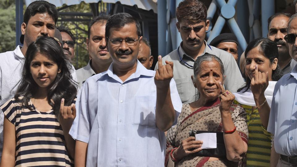 Delhi CM Arvind Kejriwal, seen with his family after voting in the MCD elections, has said the AAP will challenge the Lt Governor's order to recover Rs 97 crore.