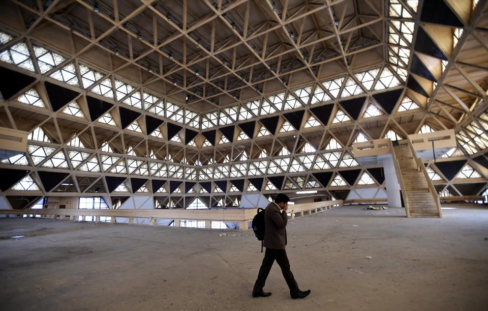 A world-class iconic convention centre, will be built in place. The centre will have a seating capacity of 7,000 in single format (3,000 pax Plenary Hall and 4,000 pax Functional Hall) fully equipped with facilities for country-to-country level international conferences and conventions.  (Arvind Yadav/HT PHOTO)