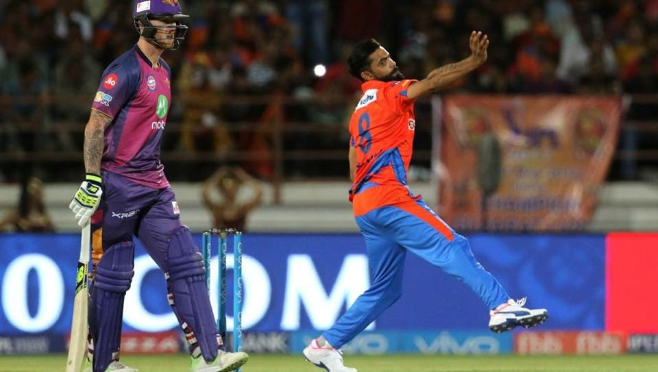 Ravindra Jadeja has taken two wickets for Gujarat Lions in five matches in the 2017 Indian Premier League.