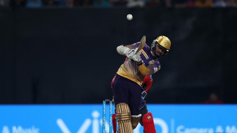 Sunil Narine opened the batting and he gave Kolkata Knight Riders a blazing start as they raced to 50 in just 3.4 overs. (BCCI)