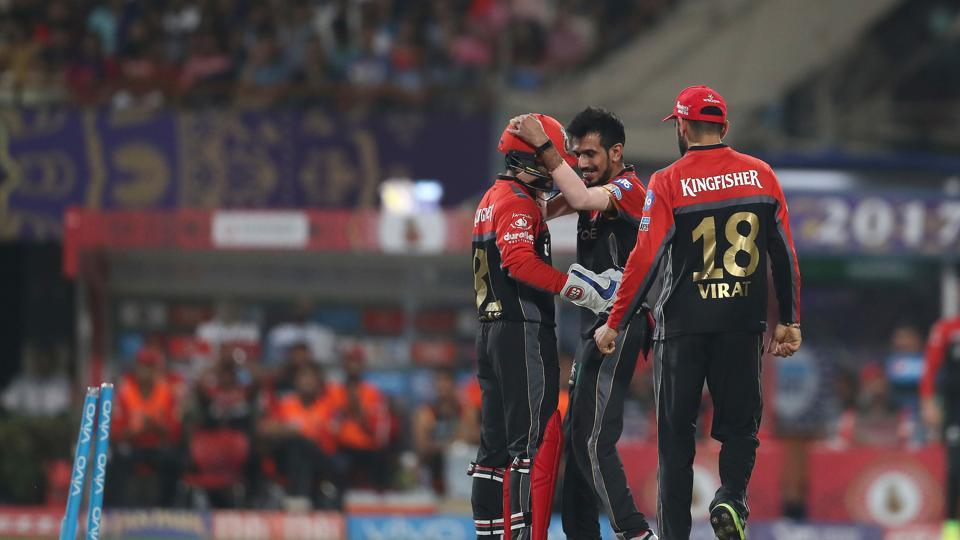 Yuzvendra Chahal snapped up three wickets as KKR lost momentum in the middle overs. (BCCI)