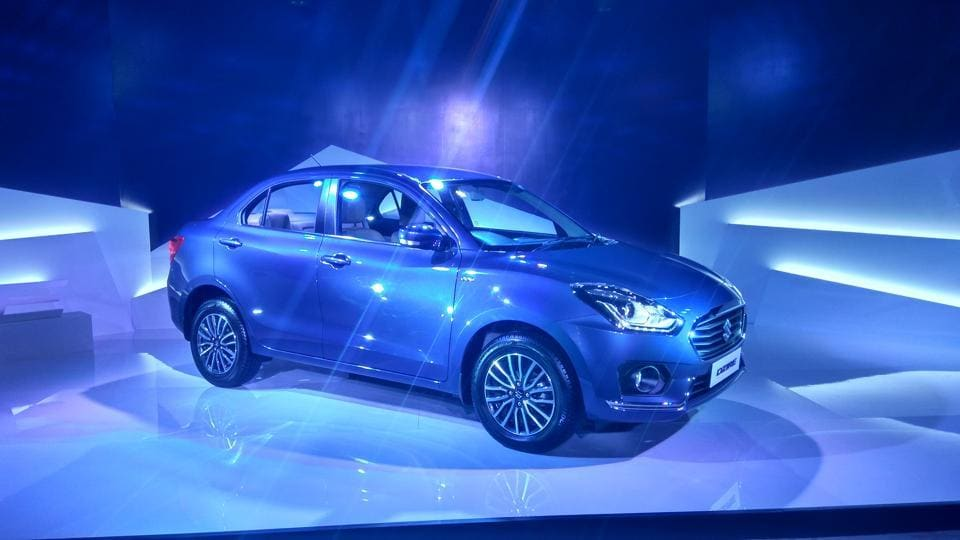 Maruti Suzuki unveiled its new compact sedan Dzire in New Delhi on Monday. The car will be launched on May 16.