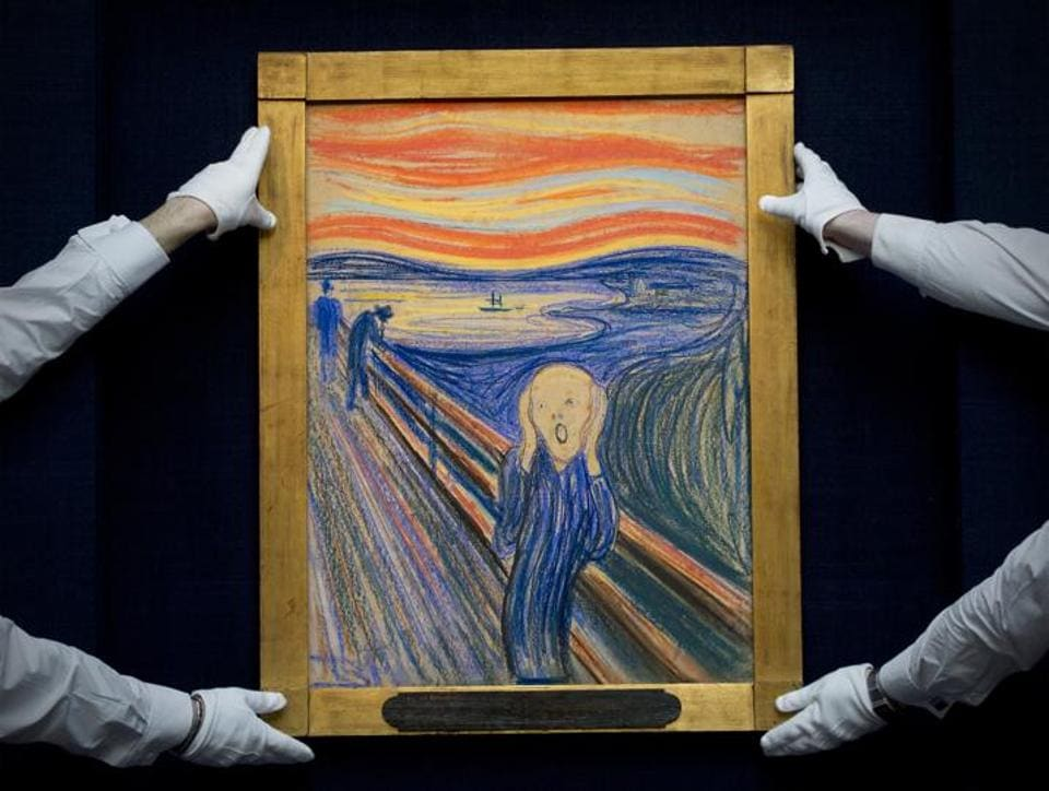 The first version of The Scream was released in 1893.