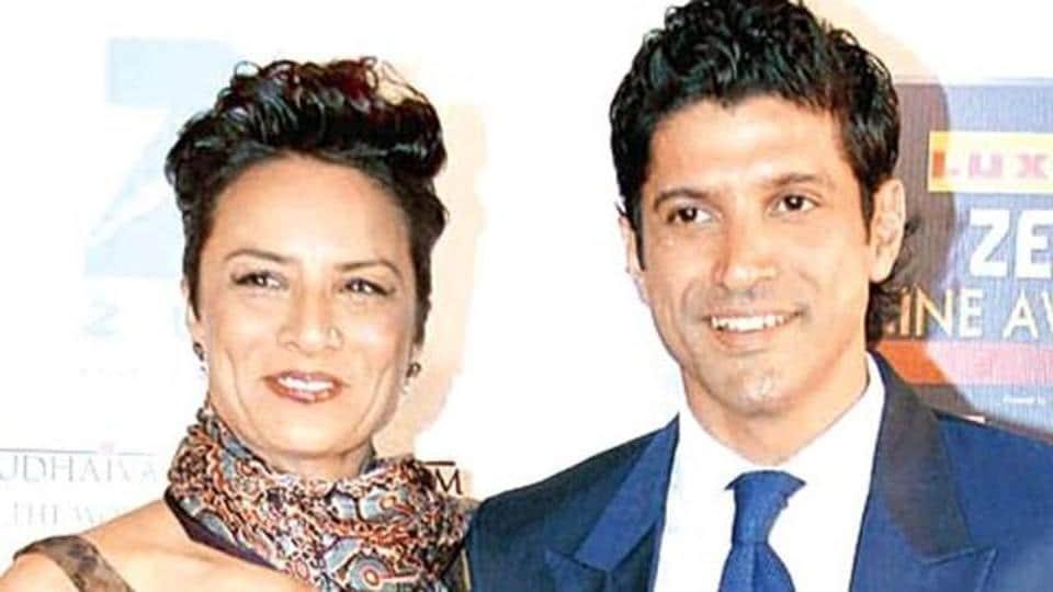 Farhan Akhtar and Adhuna in happier days.