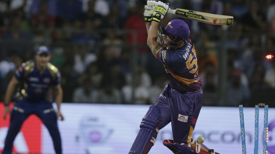 Rising Pune Supergiant batsman Ben Stokes is bowled during their Indian Premier League (IPL) match. (AP)