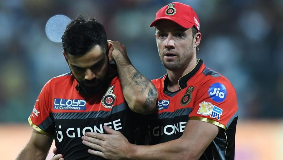 Virat Kohli and AB de Villiers both failed to perform well for Royal Challengers Bangalore against Kolkata Knight Riders in an Indian Premier League (IPL) 2017 match. RCB play Sunrisers Hyderabad on Tuesday