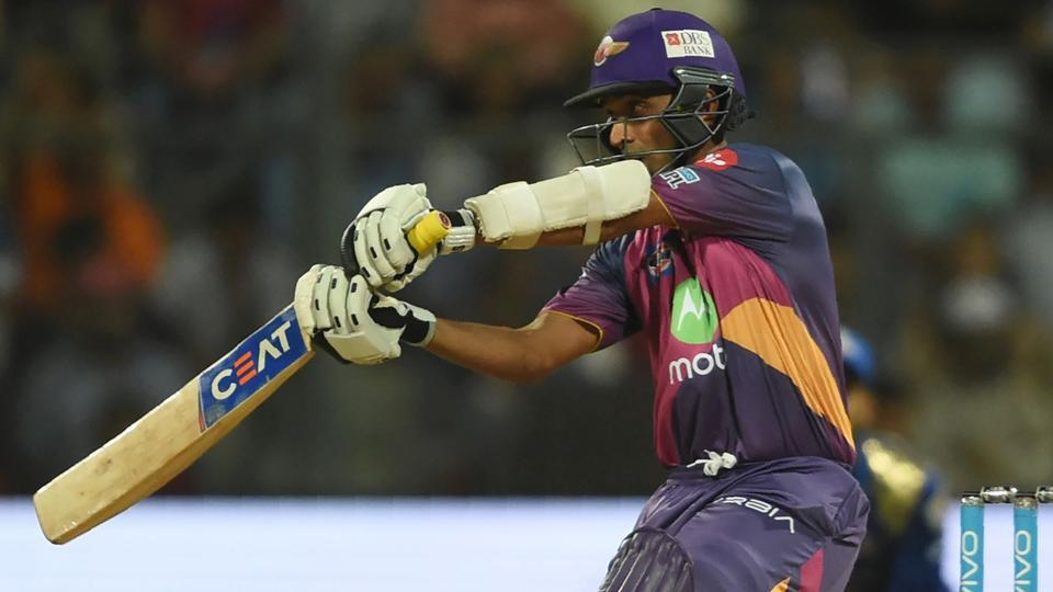 Rising Pune Supergiants cricketer Ajinkya Rahane plays a shot during the 2017 Indian Premier League (IPL). (AFP)