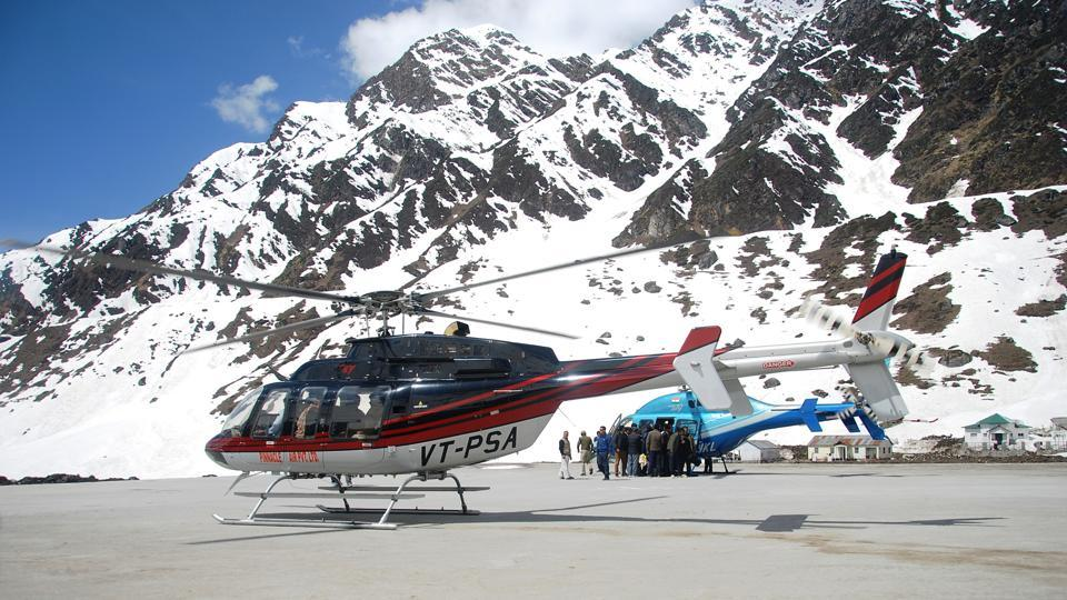 A large number of pilgrims, intending to avoid the 16-km trek to Kedarnath shrine in Rudraprayag district, opt for the chopper services