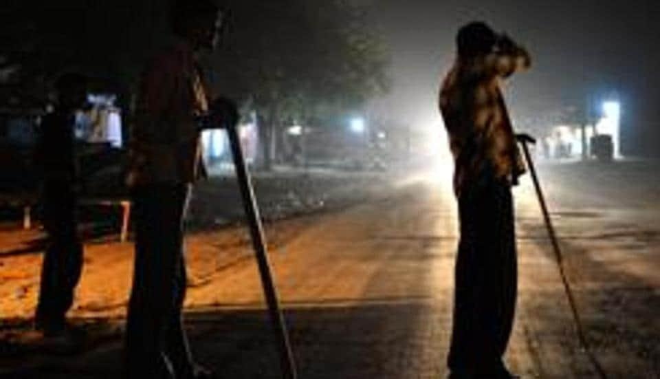 Volunteers of vigilante group Gau Raksha Dal during a patrol on a national highway.