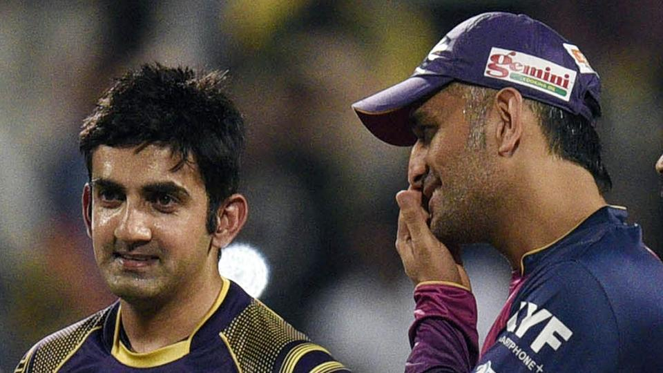 IPL 2017,Gautam Gambhir,Mahendra Singh Dhoni