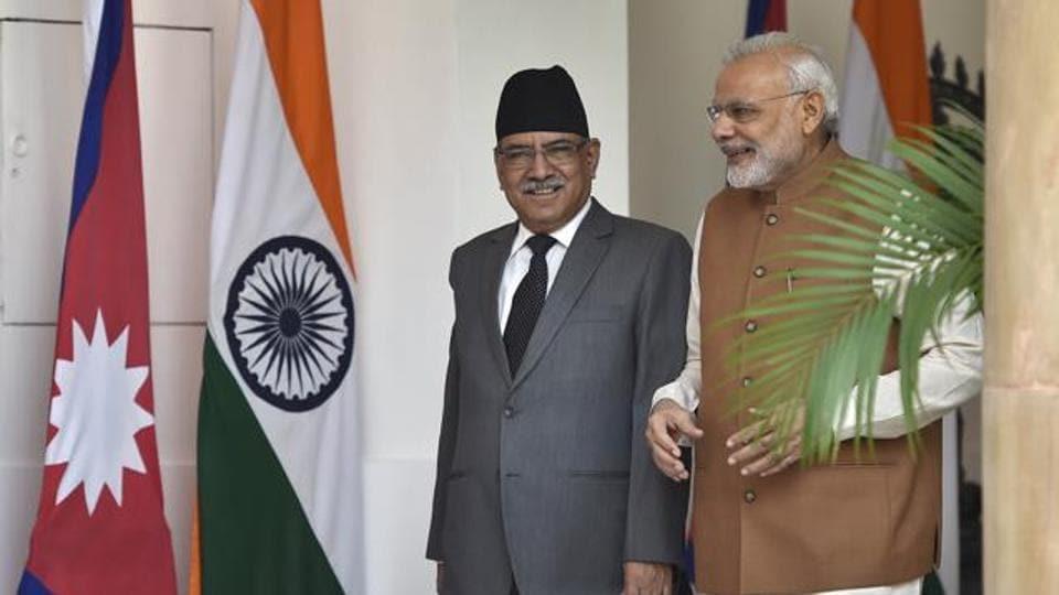 Nepal prime minsiter Pushpa Kamal Dahal,India Nepal relations,Prime Minister Narendra Modi