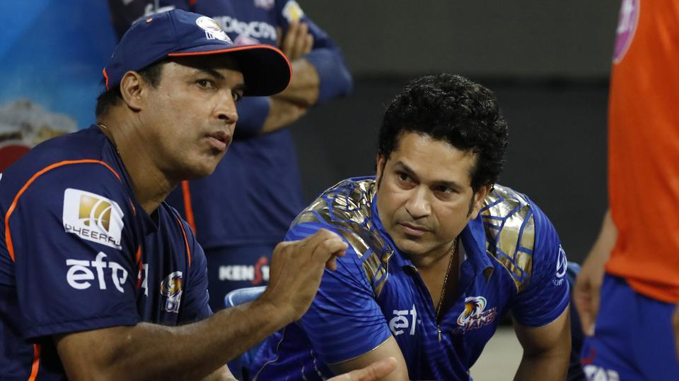 Sachin Tendulkar, the mentor of the Mumbai Indians, was present for a special occasion during the clash against Rising Pune Supergiant in the IPL. (BCCI)