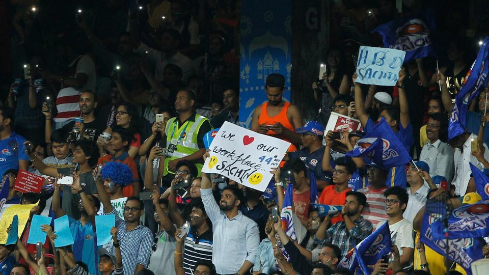 Fans wished Sachin Tendulkar a happy birthday at the Wankhede stadium. (BCCI)