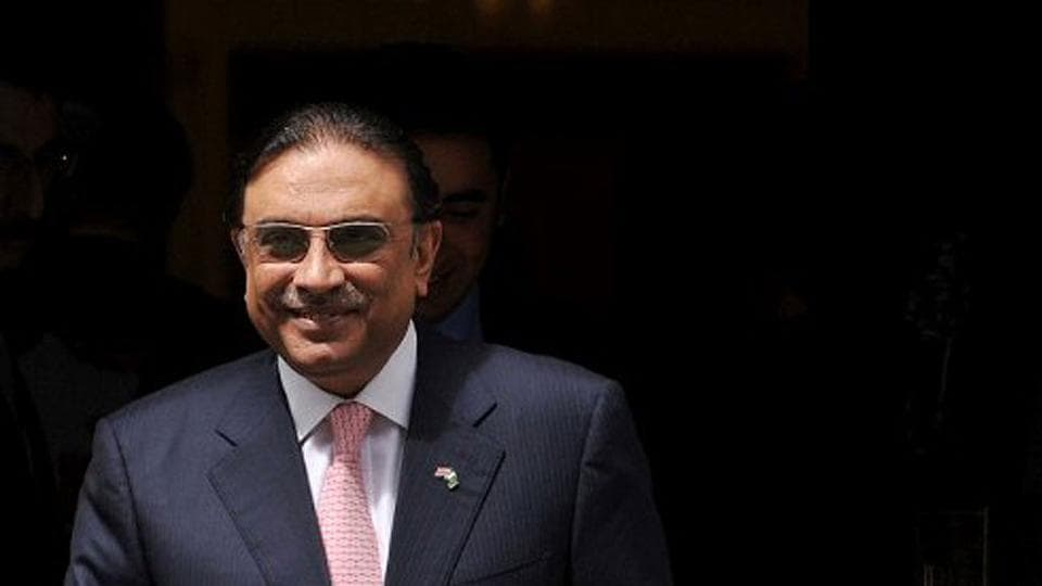 File photo of former Pakistani president Asif Ali Zardari.