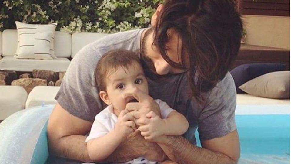 Shahid Kapoor with his daughter Misha.