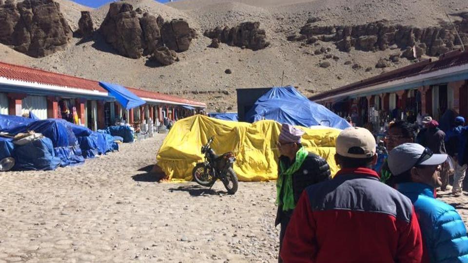 Taklakot market in Tibet (China), where the annual border trade takes place.