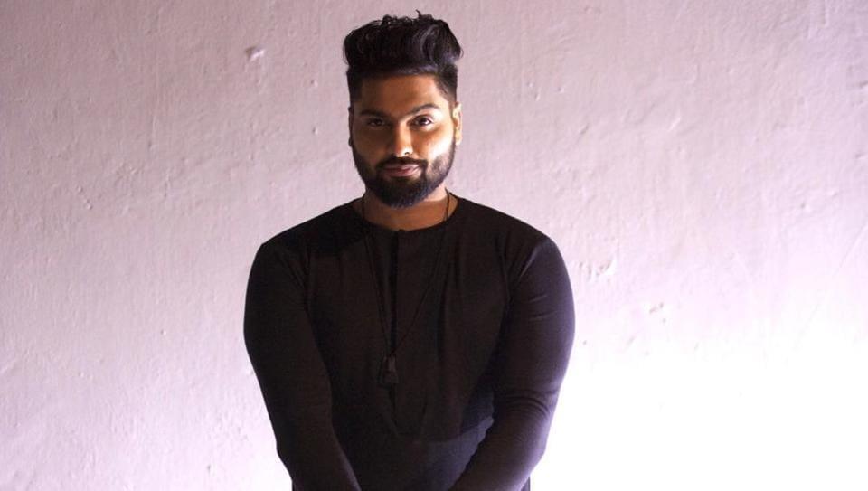 Singer Navv Inder strikes a pose.
