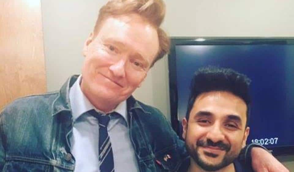 Vir Das performed on Conan's show for five minutes, which earned a roaring applause from the crowd.