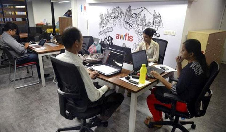 Awfis Space Solutions is a start-up that provides shared workspaces.