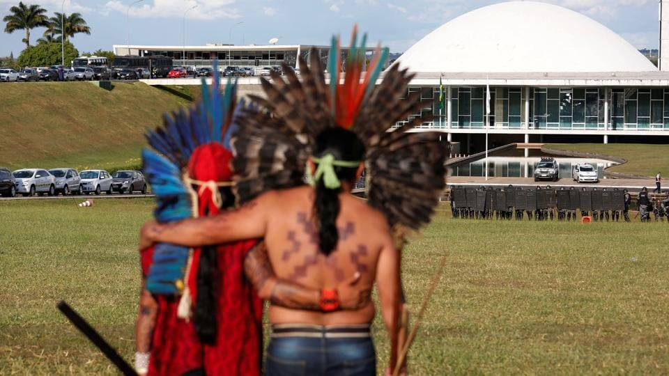 Brazil, Latin America's largest nation, is home to numerous tribes, many of which live in the Amazon region.  (Gregg Newton/REUTERS)