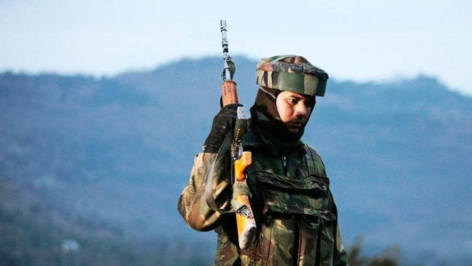 An Indian Army soldier patrols near the Line of Control, Poonch district, J&K (File Photo)