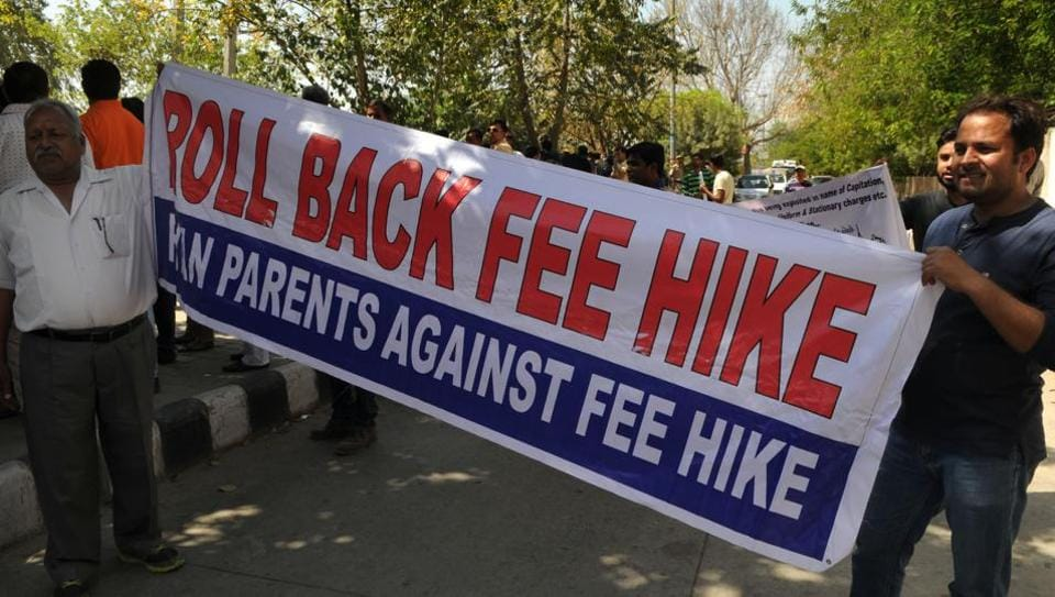 Several parents' associations in Gurgaon have served an ultimatum to the state government and given it a month's time to get the hike rolled back.
