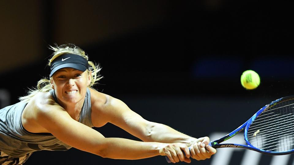 Maria Sharapova plays Roberta Vinci  in the first round of the Stuttgart Open on Wednesday. The Russia is back in competition after serving a 15-month doping ban.