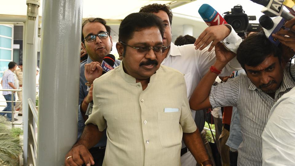 AIADMK leader TTV Dinakaran has been arrested by Delhi Police for his attempt to bribe an official for retaining the two-leaves party symbol.