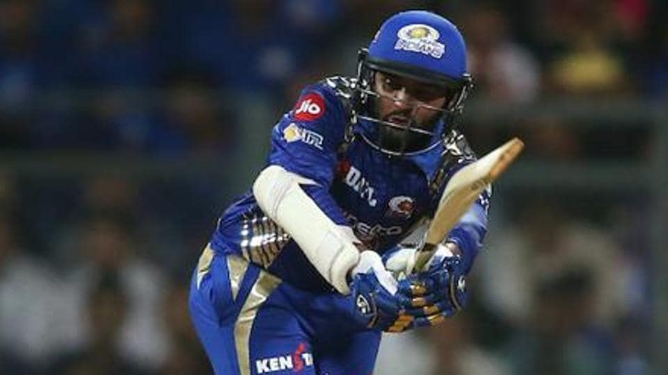 Parthiv Patel of Mumbai Indians plays through the leg side during the 2017 Indian Premier League match against Rising Pune Supergiant at the Wankhede Stadium in Mumbai on April 24.