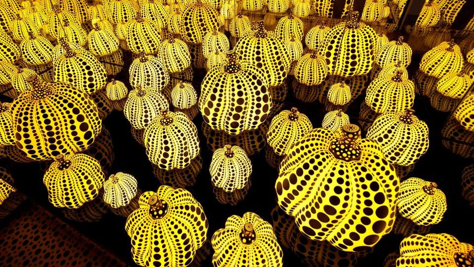 View of 'Infinity Mirrored Room - All the Eternal Love I Have for Pumpkins'. (Joshua Roberts / Reuters)