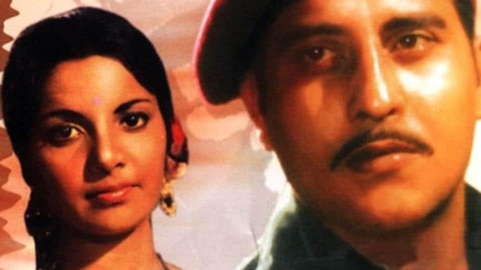 A poster of late Vinod Khanna and Lily Chakraborty-starrer Achanak.