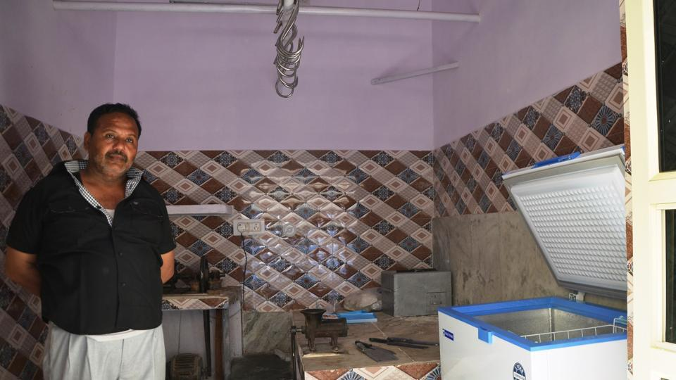 Sartaj Quraishi at his new meat shop.