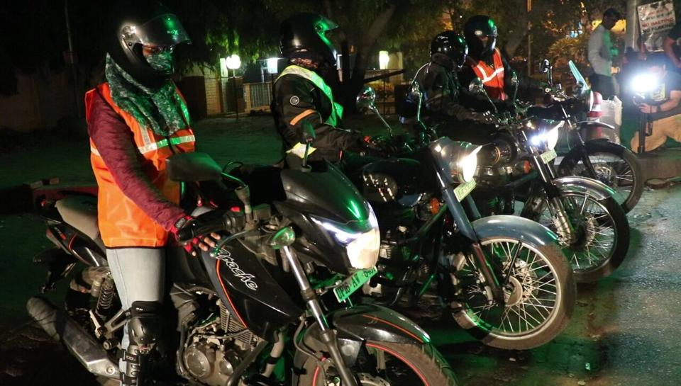The Bikernis get ready for the trip