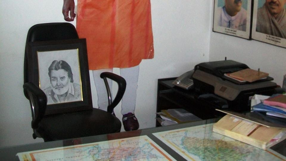 Vinod Khanna's office at his Gurdaspur residence.