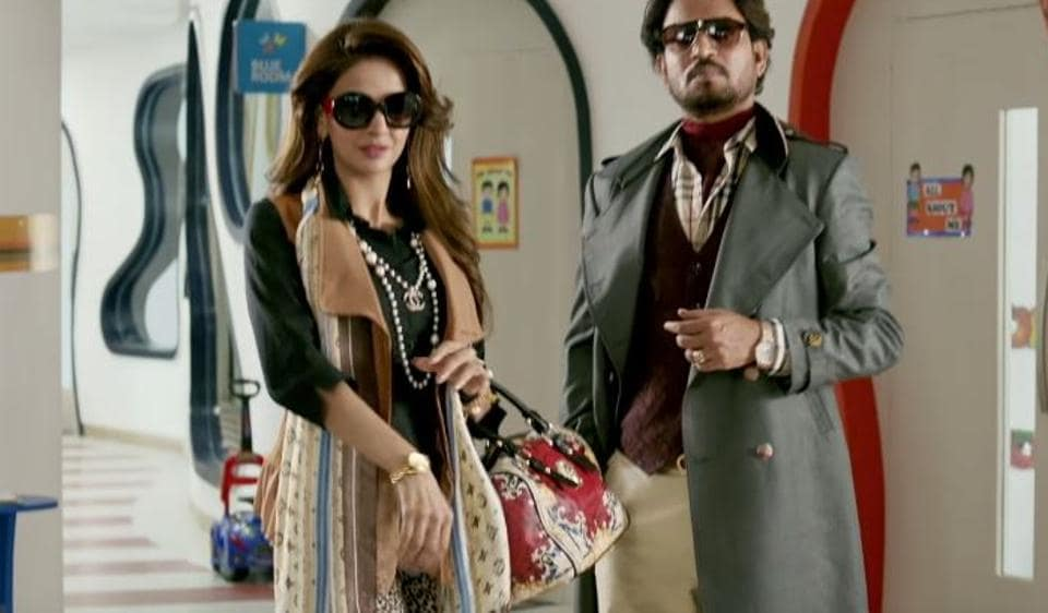 Saba Qamar and Irrfan Khan in Hindi Medium.