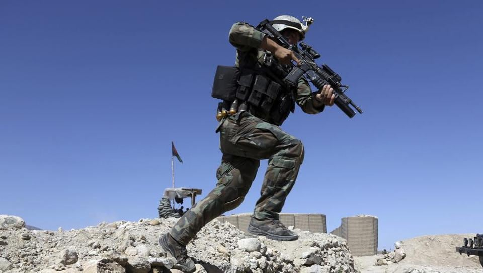 A commando during an operation in Achin district of Jalalabad in Afghanistan.