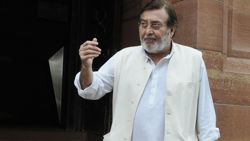 BJP MP Vinod Khanna at Parliament on first day of Budget Session in New Delhi on February 23, 2015. (Mohd Zakir/ HTPhoto)