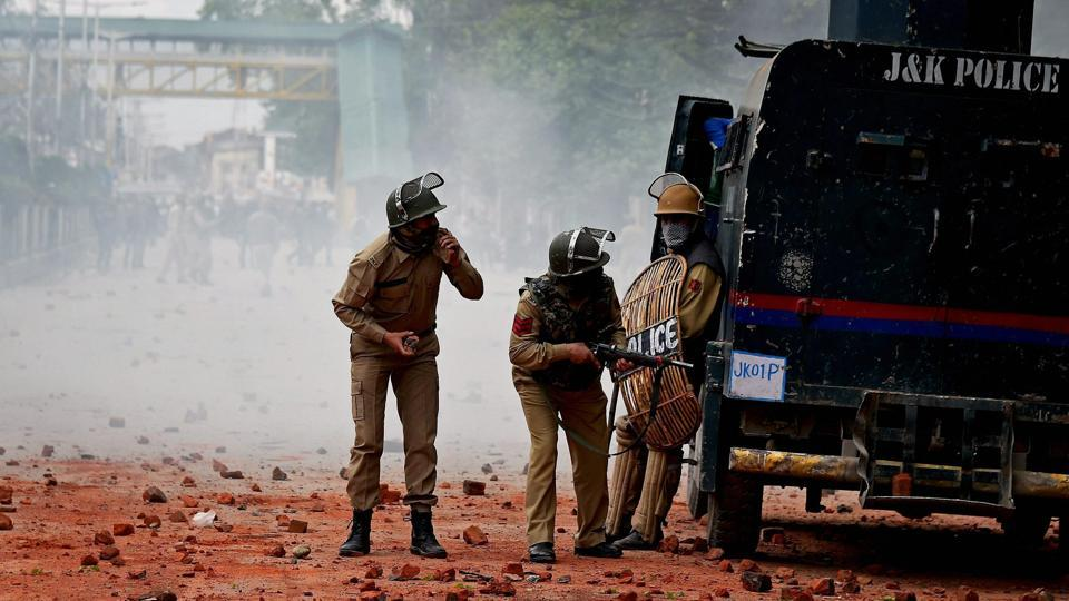 Colleges re-opened in Kashmir after a week's closure but fresh clashes erupted as students staged protests against alleged high-handedness by security forces at Pulwama Degree College recently.