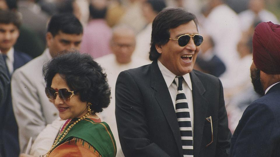 Vinod Khanna and Vyjayanthimala at an event together.