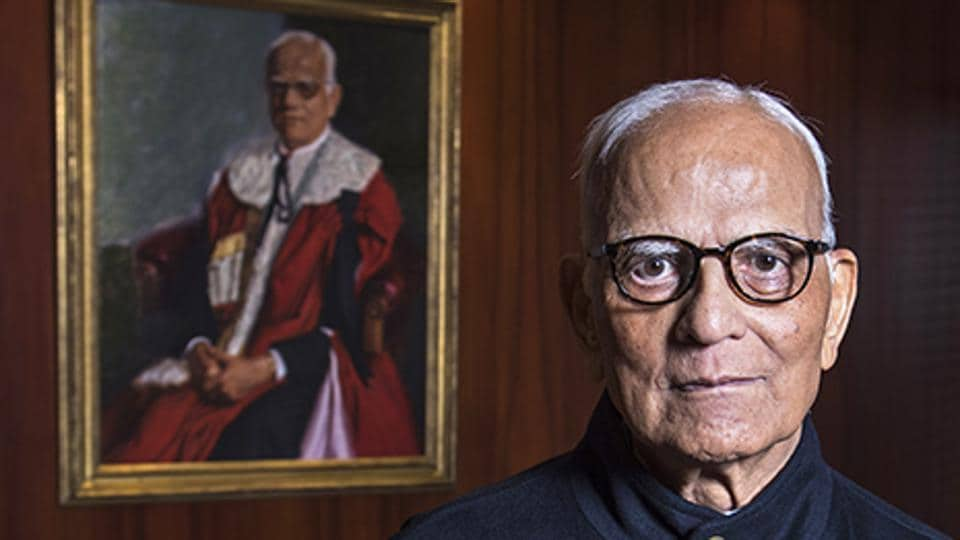 Lord Bagri, a former Conservative Member of the House of Lords and former chairman of the London Metal Exchange, photographed in his offices in London.