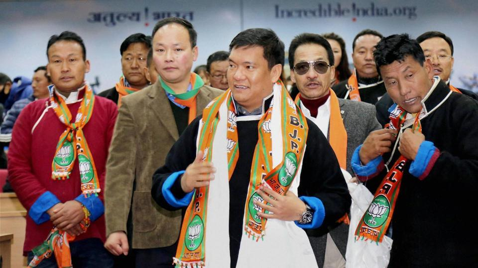 Representative Image:  Panchayat members from Tawang district, representing three Assembly constituencies Mukto, Tawang and Lumla, joined BJP, leaving the Congress party at Kala Wangpo Convention Hall, in this file photo from February 2, 2017.