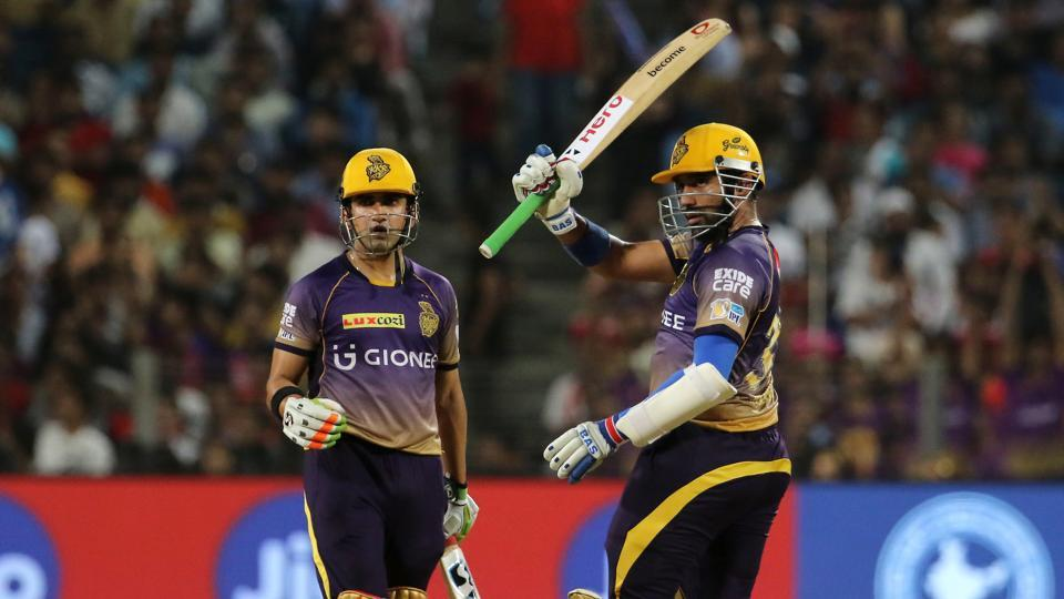 Robin Uthappa blasted 87 and Gautam Gambhir slammed 62 as their 158-run stand helped Kolkata Knight Riders beat Rising Pune Supergiant by seven wickets in the 2017 Indian Premier League. (BCCI)