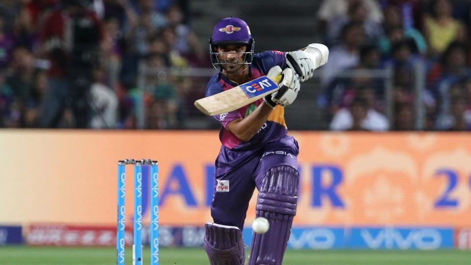 Ajinkya Rahane looked set for a fifty but he was stumped by Robin Uthappa off Sunil Narine for 46. (BCCI)