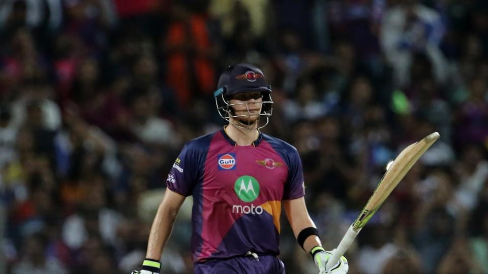 Steve Smith slammed his fourth fifty as Rising Pune Supergiant ended on 182/5. (BCCI)