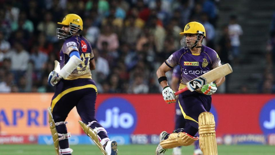 The partnership between Gambhir and Uthappa put KKR on course for a win. (BCCI)