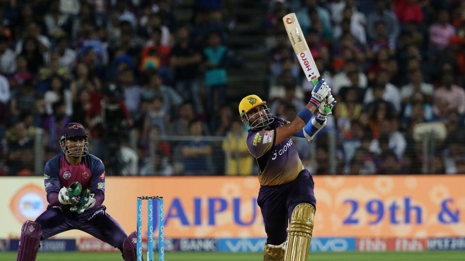 Uthappa notched up his 20th IPL fifty as he tore into the RPS bowlers. (BCCI)